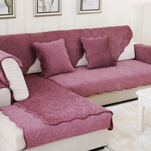European Sofa Covers Plush Fabric Eco-Friendly Anti-Mite Sofa Slipcover Couch Cover for Living Room Sofa Towel Mats 1PCS
