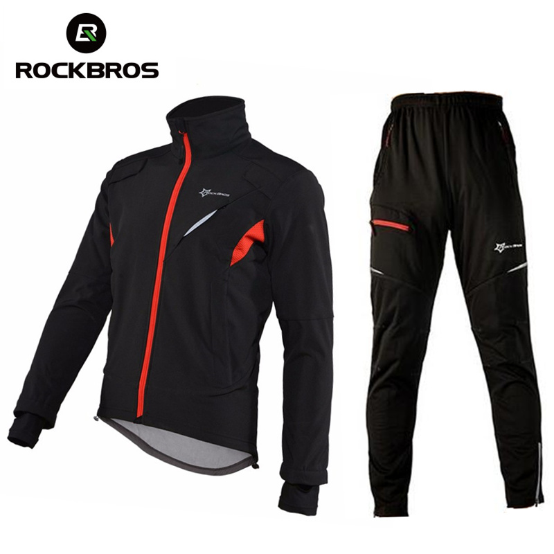 ROCKBROS Winter Hiking Pants Jacket Sets Fleece Warm Sport Trousers Climbing Cycing Outdoor Jersey Men Women Hik Set Clothing rax 2015 thermal fleece hiking pants for men women winter outdoor sports warm fleece trousers fleece camping pants 54 4f089