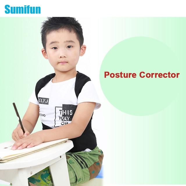 1 Pcs Posture Corrector Magnetic Back Support Belt Black Tourmaline Lumbar Belt Brace for Child Student Adult Back Massager C776