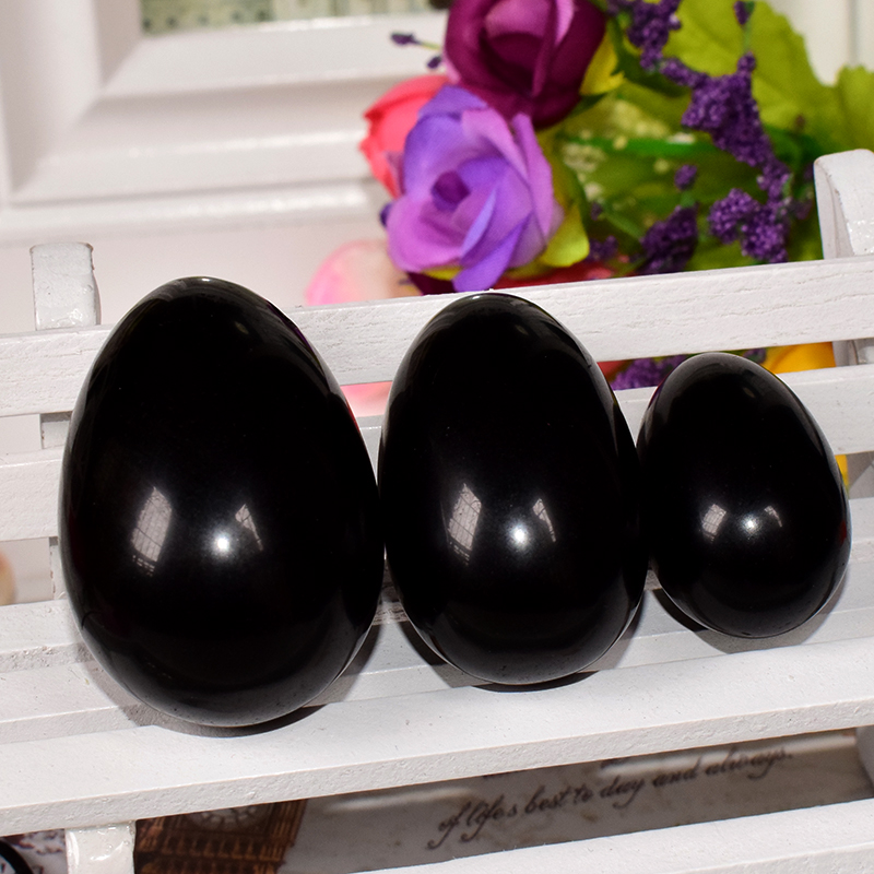 Yoni Egg Black Obsidian Kegel Ball for Women Kegel Exercise Pelvic Floor Vaginal Muscle Exerciser Jade Eggs Massage Balls Gift jade egg natural unakite yoni egg crystal sphere for kegel exercise pelvic floor muscle vaginal exercise ben wa ball