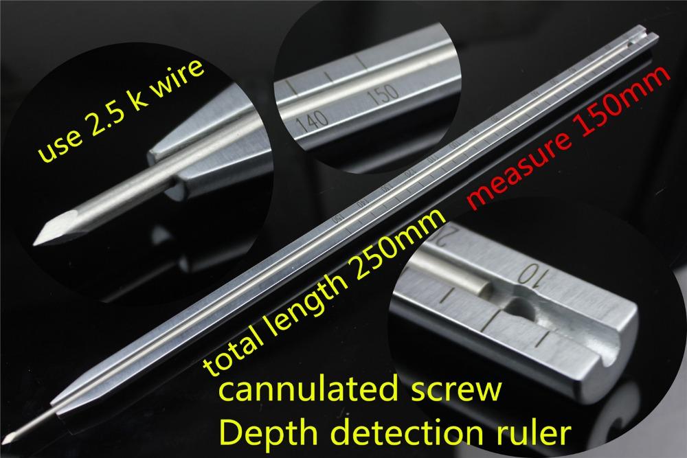 medical orthopedic instrument cannulated screw Depth detection ruler DHS DCS lag screw sounder Depth detector Measuring device