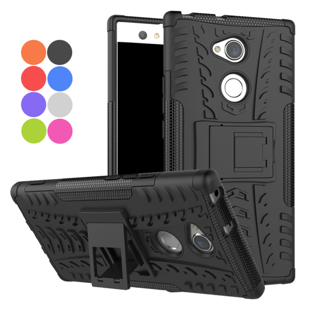 new product caf49 12446 US $5.61 15% OFF|For Cover Sony Xperia XA2 Case Sony Xperia XA2 Ultra Back  cover Hybrid Stand Shockproof Case for Sony XA2 Silicone Case Armor-in ...