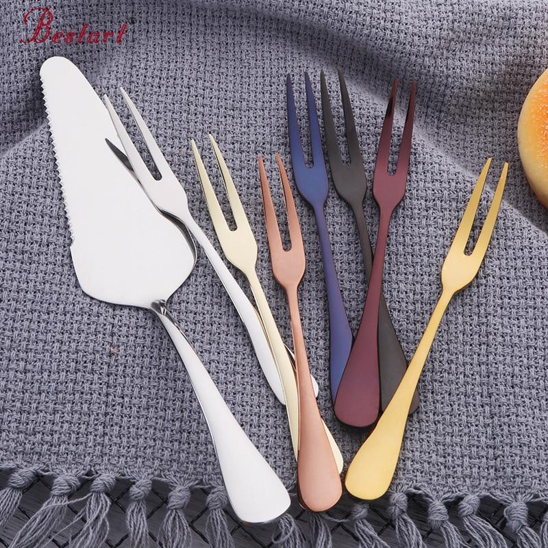 1lot 9pcs Eco friendly 18 10 Stainless Steel Cake Shovel Knife Fruit Fork Snack font b