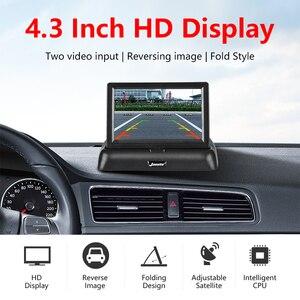 Image 2 - 4.3 אינץ אלחוטי TFT LCD רכב צג מתקפל צג תצוגה הפוכה מצלמה חניה מערכת לרכב Rearview מוניטורים NTSC PAL