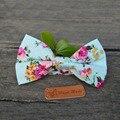 Clássico Padrão Floral Bow Tie Bowknot Bowtie Impressão do Algodão dos homens de Negócios de Estilo Britânico Formal Tie Festa de Casamento Gravata