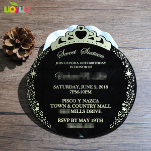 Image 5 - 30pcs print custom acrylic wedding invitation card