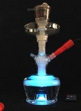 Smoker Mini Hookah for Smoking Small Shisha Smoking Water Pipe With LED Hose Chicha Nargile Make Amazing Smoke Can Use For Bar
