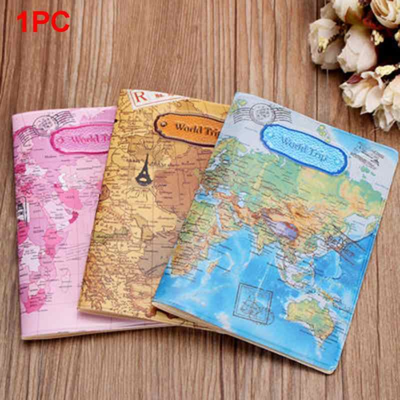 Hot Sale World Map Travel Passport Cover PVC Holder Travel Passport Cover Case Brand Passport Holder Documents Folder Bag