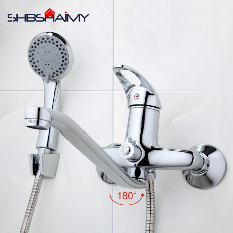 300mm Outlet pipe Chrome Bath shower faucet Brass bathroom taps with ...