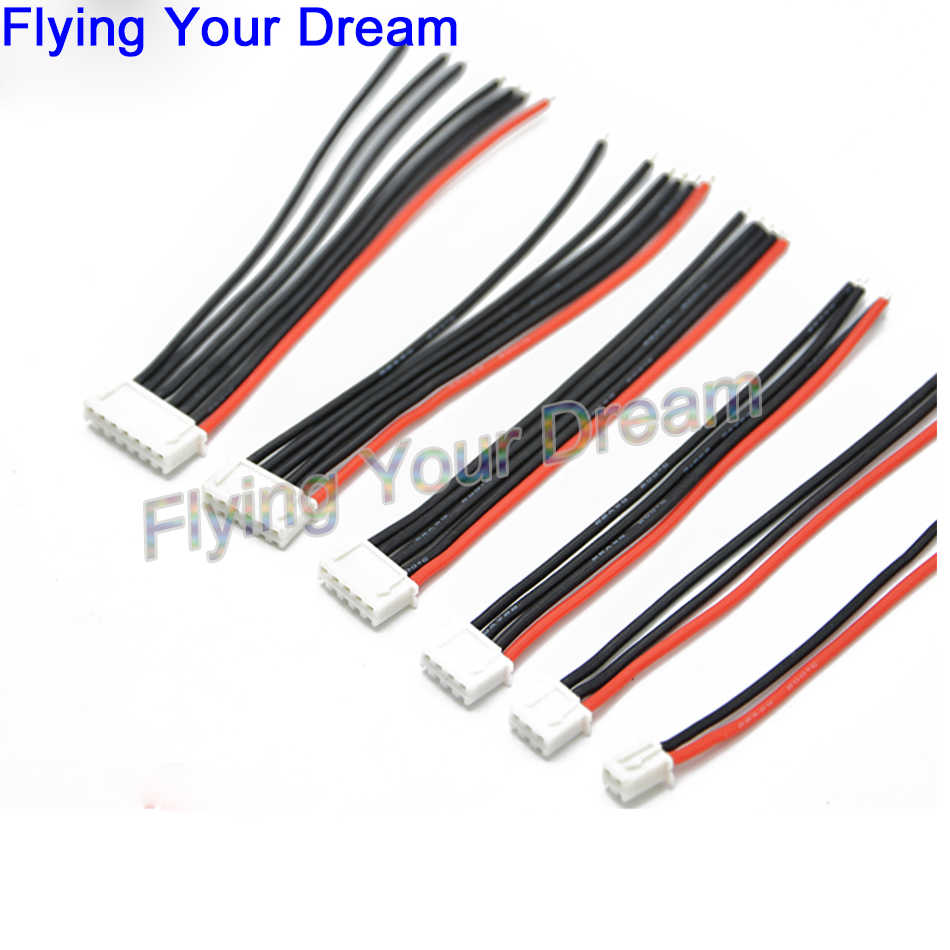 5 stks/partij 10 CM 100 MM RC Lipo Balans Lader Plug 2 s 3 s 4 s 5 s 6 s 22AWG Kabel Voor IMAX B3 B6