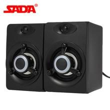 SADA V 118 USB Verdrahtete Lautsprecher LED Computer Lautsprecher Bass Stereo Musik Player Subwoofer Sound Box für Laptop Desktop PC Smart telefon