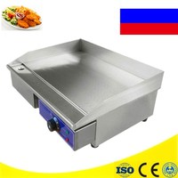 Commercial Stainless Steel Cooking Appliance Flat Pan Grooved Electric Griddle Fryer For Home Use