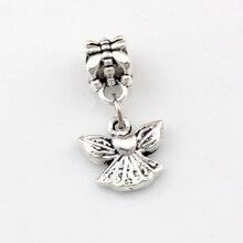 30pcsAntique silver Cute little Angel Dangle Charm Beads Fit necklace DIY Accessories 12.5x24mm A-502a