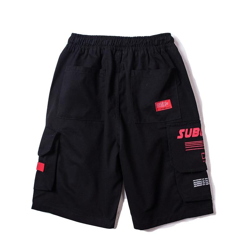 Japanese Harajuku Big Pockets Mens Cargo Shorts for Summer Urban Boys Streetwear Drawstring Hip Hop Short Pants Plus Size M-XXL 4