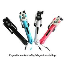 2017 Universal Android/IOS Phone Folding Extendable Selfie Stick 4 colors iphone Selfie-timer Tripod+Clip Holder