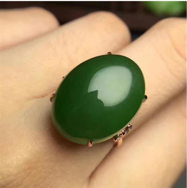 где купить Free shipping Woman Ring Natural Hetian Jasper Ring 925 sterling silver Ring Wholesales Fine jewelry 10*14mm Gem Size по лучшей цене
