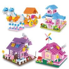 425pcs Mini Diamond Building Blocks Bricks Architecture Nano Blocks Kids Educational Compatible City Bricks Toys for