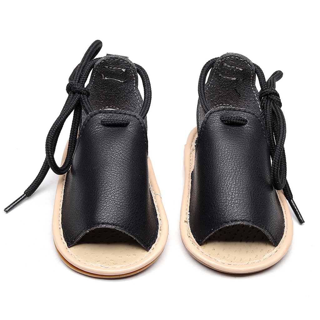 eb4adf4ec Infant Baby Girls Beach Leather Rubber Sole Summer Sandals First Walkers Shoes  kids shoes summer Chaussures