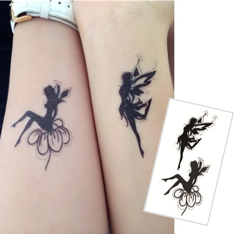 shnapign double ange flash tatouage main autocollant 10 5 6 cm petit tanche henn beaut. Black Bedroom Furniture Sets. Home Design Ideas