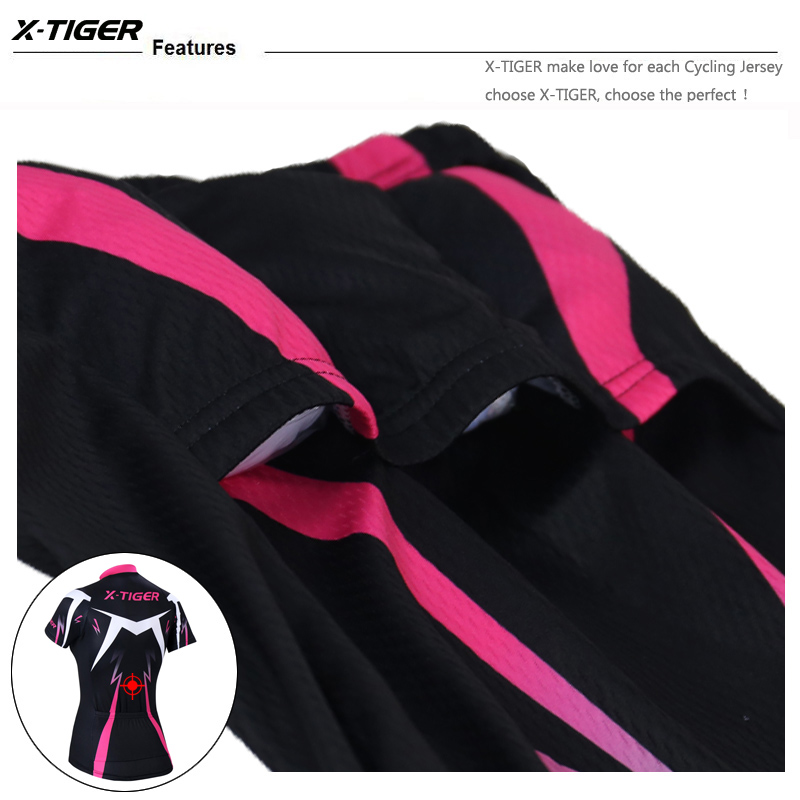 X-Tiger Pro Musim Panas Wanita Bersepeda Pakaian MTB Sepeda Pakaian - Bersepeda - Foto 5