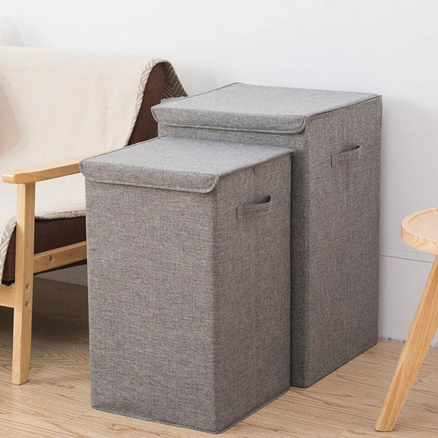 fashion waterproof laundry bucket foldable dirty clothes storage wash bin home use collapsible corner laundry basket with lid