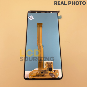 """Image 4 - 100% оригинал 6,0 """"для Samsung A7 2018 ЖК дисплей сенсорный экран дигитайзер сборка для SM A750 A750FN A750F A7 дисплей Замена"""
