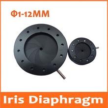 Wholesale Durable 1-12mm Amplifying Diameter Metal Zoom Optical Iris Diaphragm Aperture Condenser for Digital Camera Microscope Adapter