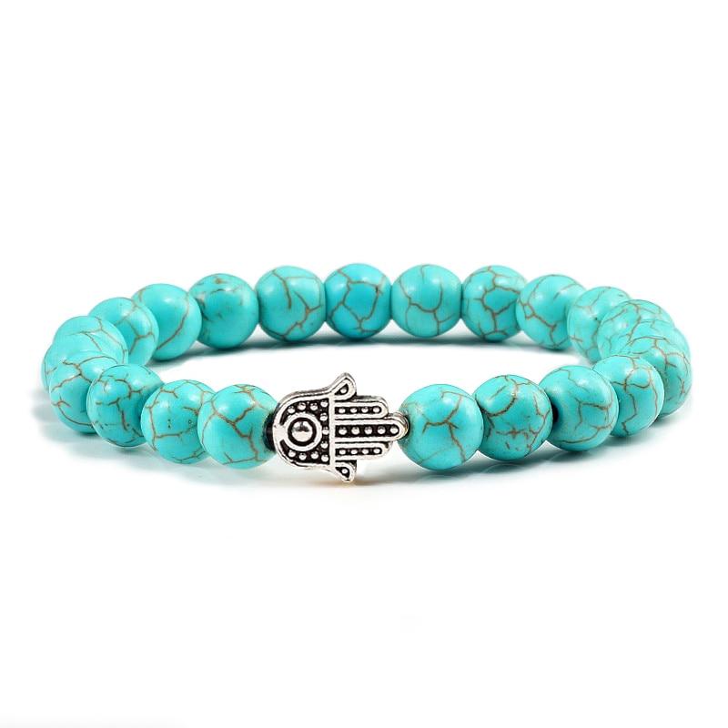 Charms Men Black Lava Matte Beads Natural Volcanic Stone Bracelets Bangles Women Yoga Prayer Jewelry Gold Sliver Hand Bracelet 2