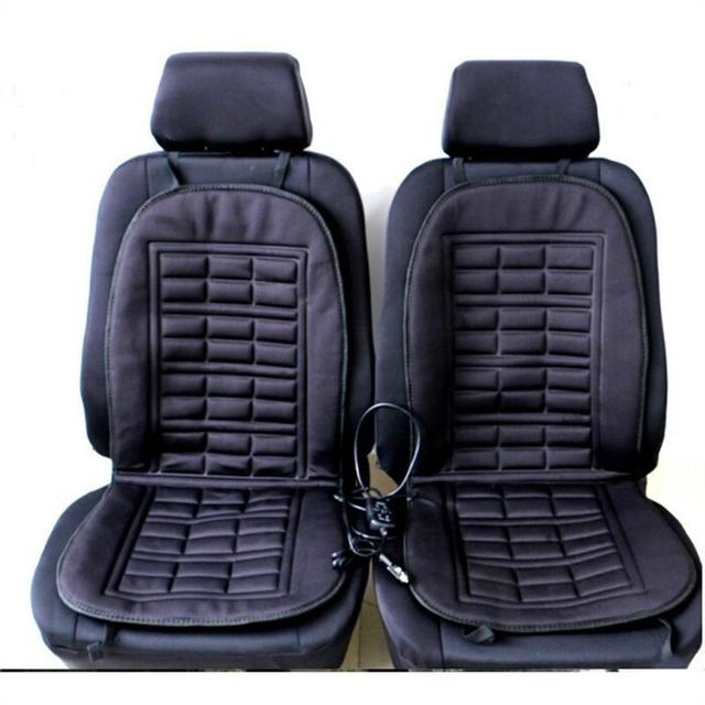 VORCOOL 1/2pcs Heated Car Seat Cover Temperature Control Heating Seat Pad Cushion Cover Warmer Seat Covers For Car SUV