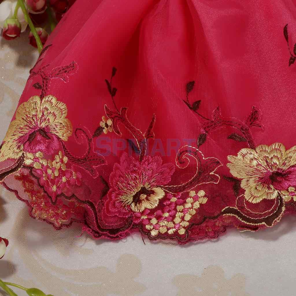 Embroidery Flowers Dress Wedding Dress for 1//6  Kurhn Doll Party Outfit