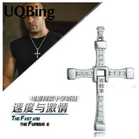 The Fast And The Furious Dominic Toretto Vin Diese Movie Jewelry Austrian Crystal Silver Sterling 925