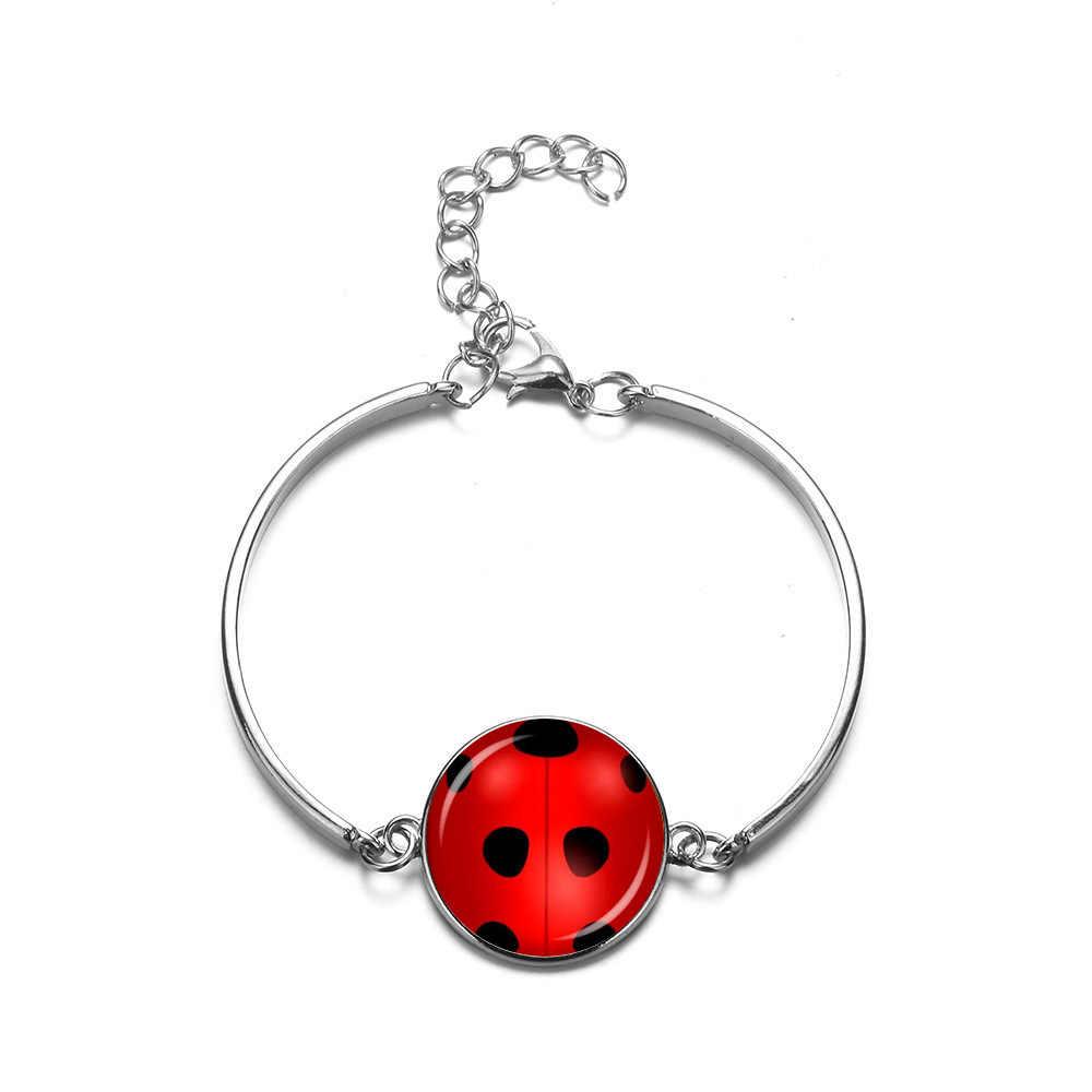 ของขวัญเด็กการ์ตูน star ladybug สาวสีดำแมว Noel สีเขียวหมี paw อัญมณี moon ชุดสร้อยคอต่างหูสร้อยข้อมือเครื่องประดับ
