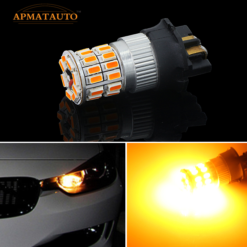 2xCanbus Error Free PWY24W <font><b>PW24W</b></font> LED Bulbs For Audi A3 A4 A5 Q3 VW MK7 Golf CC Front Turn Signal Lights For BMW F30 3 Series DRL image