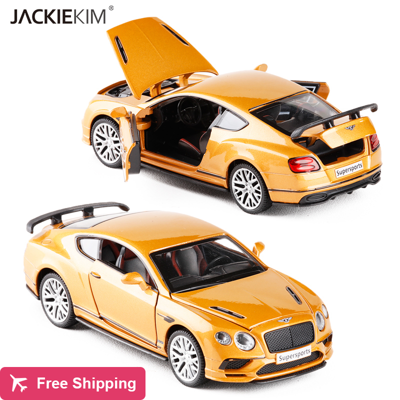 1:32 Bentley Continental GT Alloy Diecast Car Model With Pull Back Car Model For Kids Toys Birthday Gifts Free Shipping
