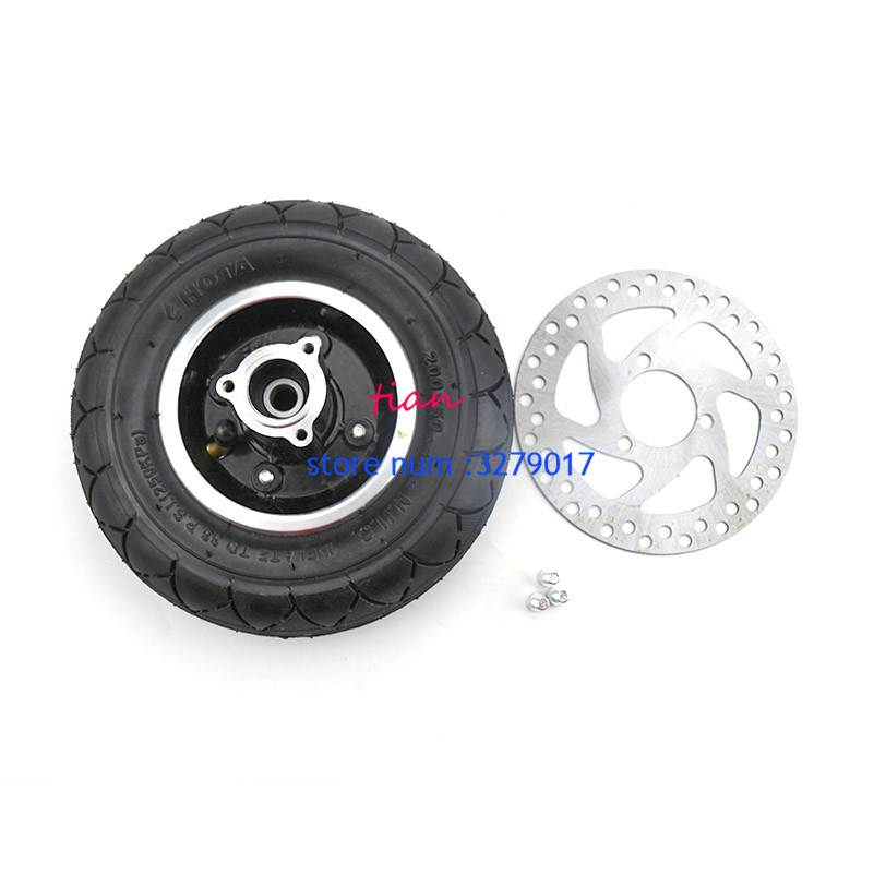 good quality 200x50 inner and out tires with Aluminium Alloy Wheel Hub and Belt brake for