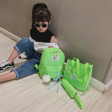 Childrens backpack 2019 new schoolbag bag tutorial pencil purse 3pcs