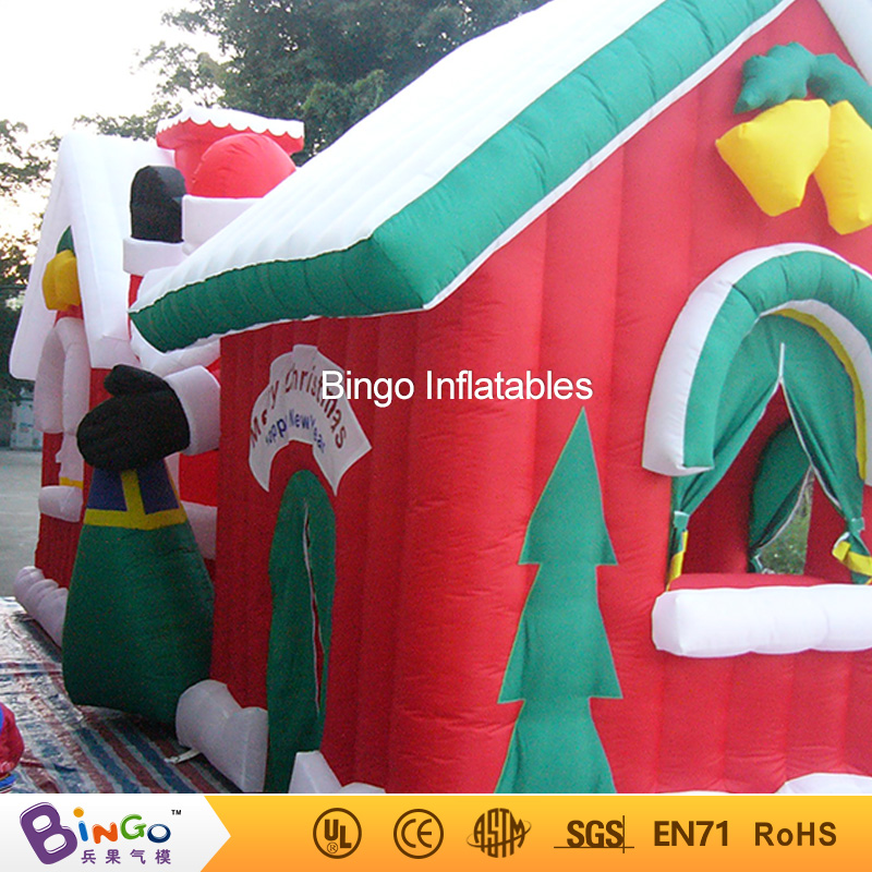 Merry Christmas Inflatable House/ Christmas Inflatable Snow House for Christmas holiday BINGO factory direct sale BG-A0529 toy 5m high big inflatable christmas santa claus climbing wall decoration 16ft high china factory direct sale festival toy