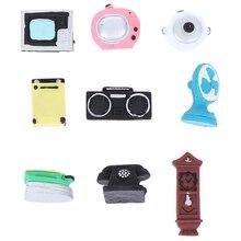 ¡Novedad! conjunto de gabinete de cine en casa con luz de teléfono Sonido de TV Vintage, accesorios combinados para muñecas, muebles de muñecas, juguetes