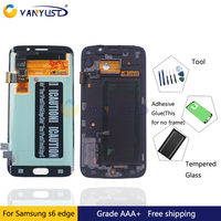 100 Original Super Amoled LCD Display Touch Screen Digitizer Assembly For Samsung Galaxy S6 Edge G925