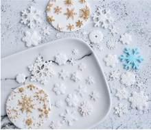 Floco de silicone mold mold bolo de Natal molde de silicone fondant DIY decoração do bolo molde