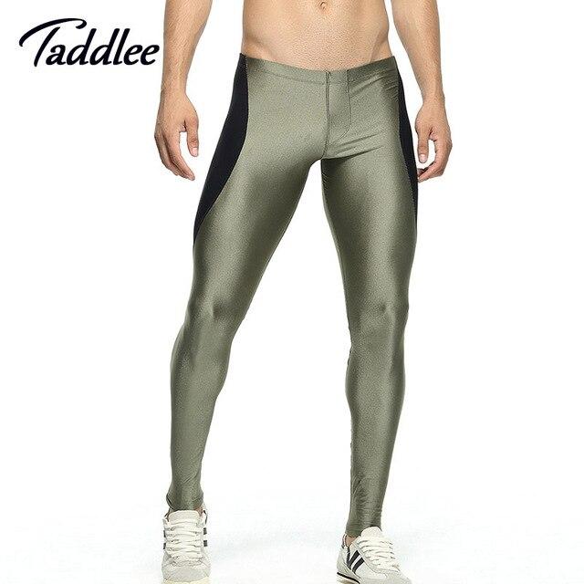 Los hombres de la Alta Stretch Pantalones Apretados Mens pantalones Largos Legging Los Pantalones de Cintura Baja Sexy hombres Diseñado Pantalón largo johns Bottoms pantalones