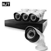 HJT 8CH NVR H 265 CCTV System 48V POE 4CH 5 0MP IP Camera Kit IR
