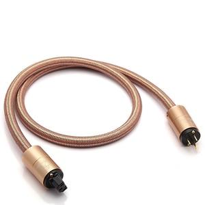 Image 2 - Yüksek son güç kablosu AU güç kablosu hifi amerikan standart ses CD amplifikatör amp ab abd fiş güç hattı