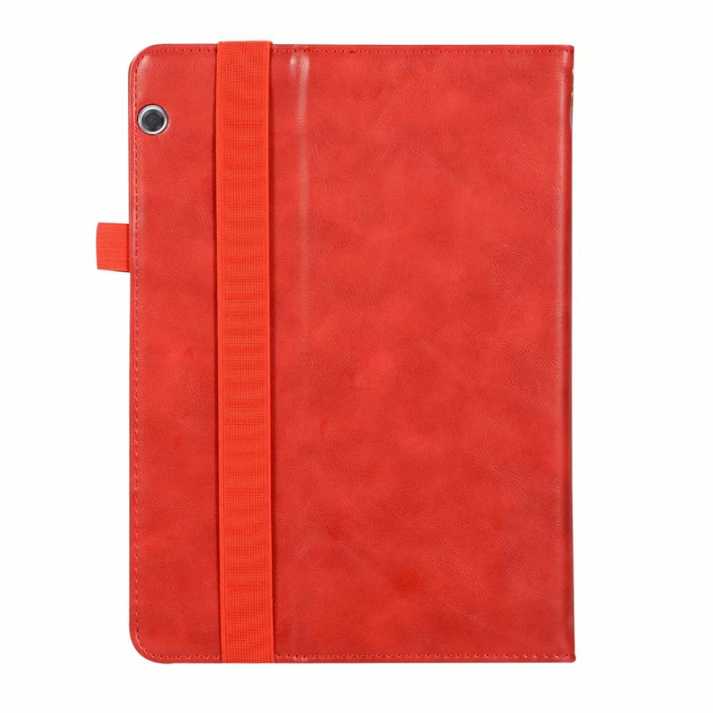 Half Genuine Leather Magnet Case Stand Hand Strap Card Holder Cover Funda For Huawei Mediapad T5 10 AGS2-W09/L09/L03/W19
