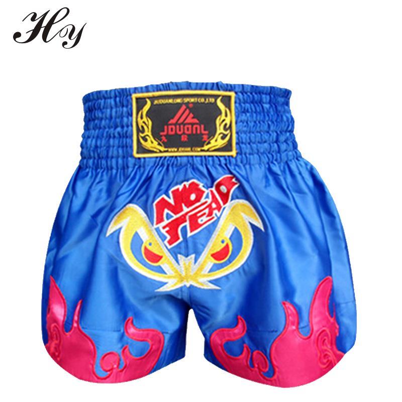 2016 Nuevos Shorts Kick Boxing Shorts negros de Muay Thai Pantalones - Ropa deportiva y accesorios