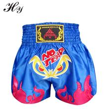 2016 New Shorts Kick Boxing Black Muay Thai Shorts Boxing Pants Shorts Free Combat Pants Sanda Boxing Blue MMA Muay Thai Pants