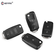 3e9ab52d3114 KEYYOU 2 3 Buttons Replacement Filp Car Remote Key Shell Case For VW  Volkswagen polo passat b5 Tiguan Golf Seat Skoda No Blade