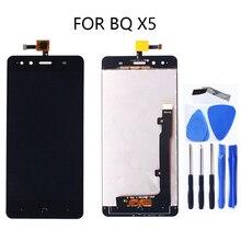 5.0 インチ液晶ディスプレイ bq Aquaris X5 S90723 ディスプレイ + タッチスクリーンデジタイザタッチスクリーン修理 kit100 % 保証仕事 + ツール