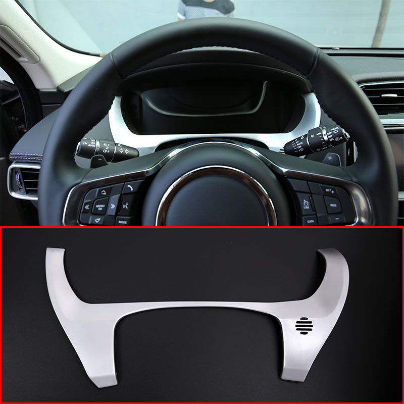 For Jaguar F-Pace f pace X761 2016 Car-styling Accessories ABS Chrome Dashboard Decorate Frame Cover Trim For LHD for jaguar f pace x761 abs chrome front fog light lamp cover trim 2016 2017 4pcs