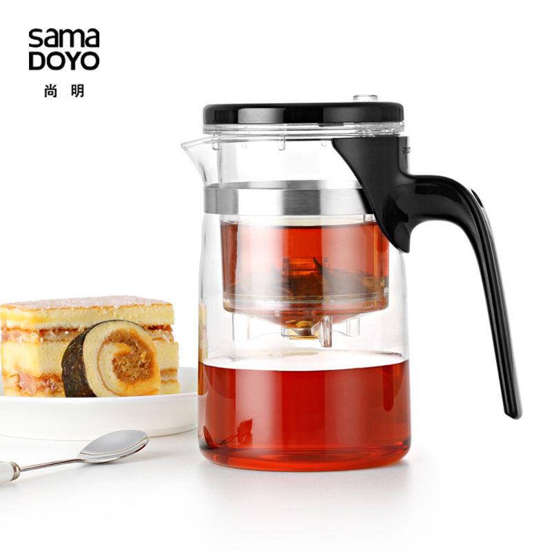[GRANDNESS] Samadoyo E-01 High Grade Gongfu Teapot & Mug 500ml <font><b>Glass</b></font> Teapot SAMA Art Tea Cup for Dian Hong Black Tea Da Hong Pao